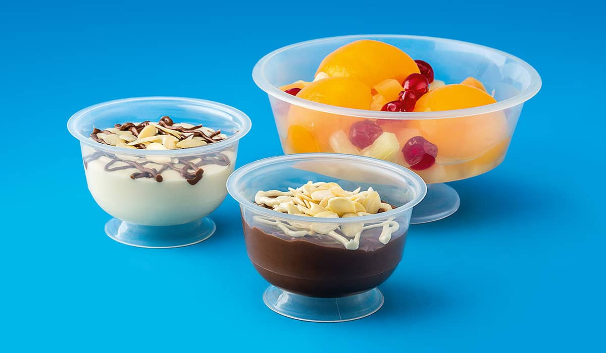 Injected PP Round Dessert Cups