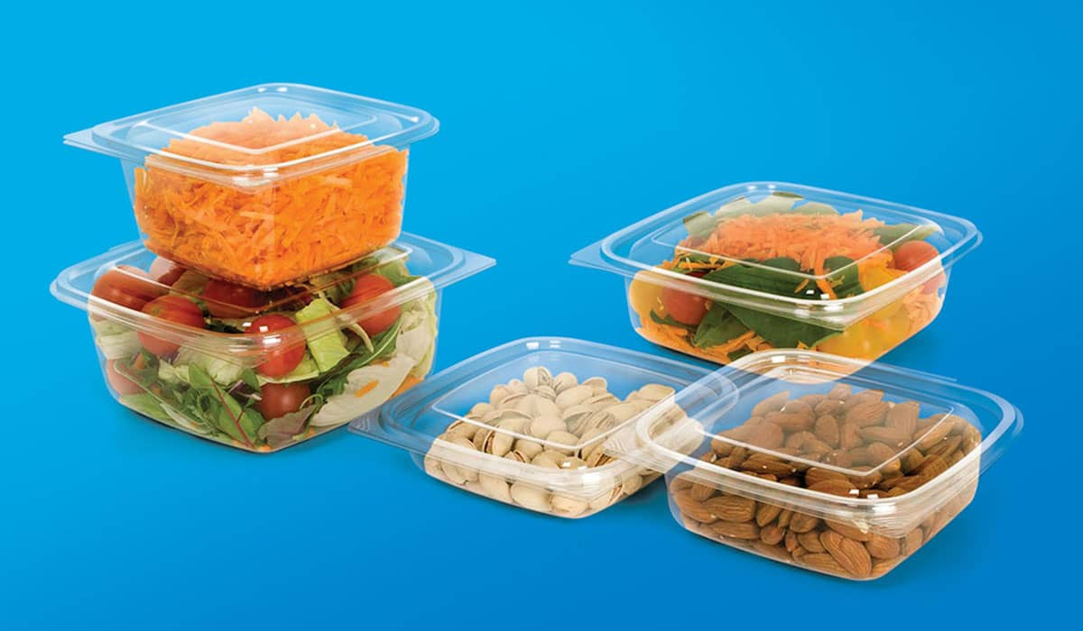 YONATAN-Square Hinged Lid PET Containers